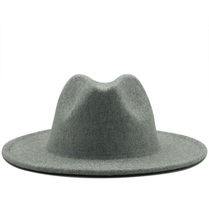 High Quality Fashion Woolen Winter Vintage Women Fedora Caps Female Felt Hats Summer Spring Wool Felt Top Jazz Hat