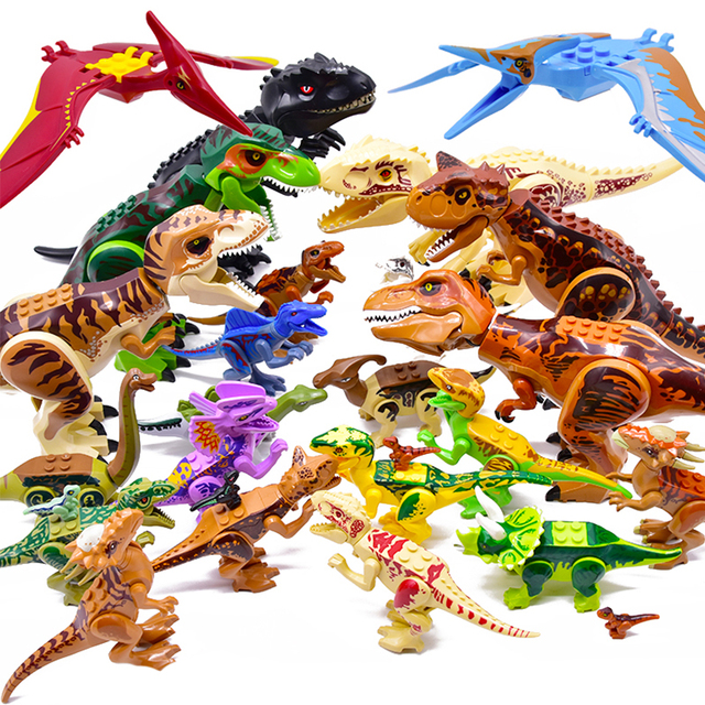 Jurassic 2 Building Blocks World Dinosaurs Figures Bricks Assemble Kids Toys Tyrannosaurus Rex Indominus Rex I-Rex 1