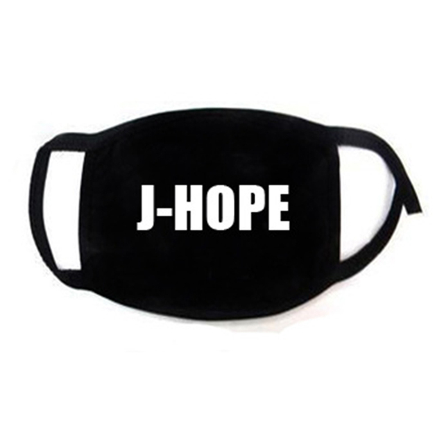 Korean Super Star KPOP Bangtan Boys JIMIN V RM JIN JUNGKOOK SUGA JHOPE The Same Fans ARMY Women Men Black Print Masks Dust Proof 1