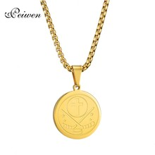 Round Puck Pendant Necklace For Women Men Stainless Steel Cross Necklaces Charm Gold Box Chain Choker For Ice Hockey Enthusiast puck control drills for hockey