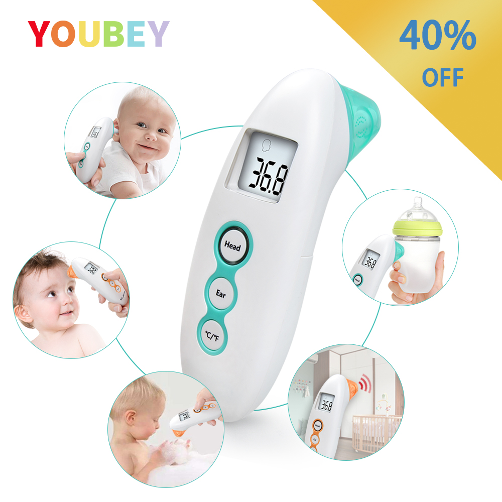 Baby Non-Contact Thermometer Digital Infrared Body Thermometer For Children Forehead Ear Measurement With Fever Alarm Termometro