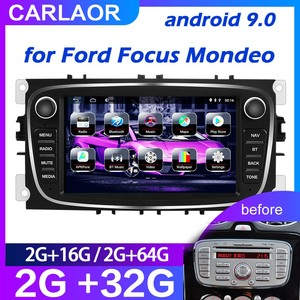 For Ford/Focus/S-Max/Mondeo 9/GalaxyC-Max Car Radio Multimedia Video Player Navigation GPS Android 9.0 NO DVD 2din 2 din 2.5D(China)