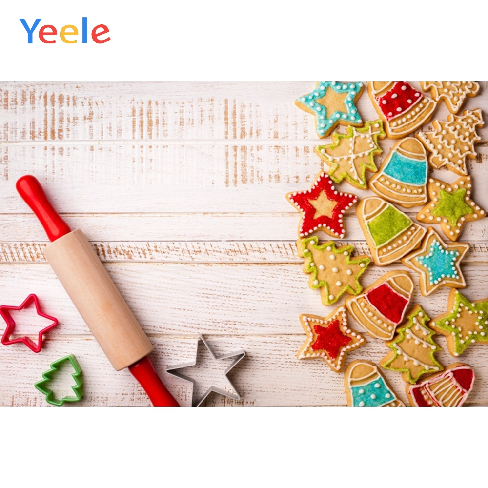 Yeele Christmas Family Photocall Ins Wood Biscuits Photography Backdrops Personalized Photographic Backgrounds For Photo Studio in Background from Consumer Electronics