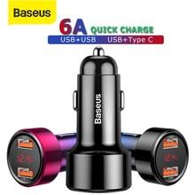 Baseus 45W 빠른 충전 4.0 3.0 USB 자동차 충전기 빠른 충전기 SCP QC4.0 QC3.0 PD USB C 전화 충전기 Xiaomi 아이폰 X XR