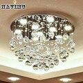 Современные K9 хрустальные светодиодные потолочные светильники для спальни гостиной кухни фойе круглая осветительная лампа Прихожая