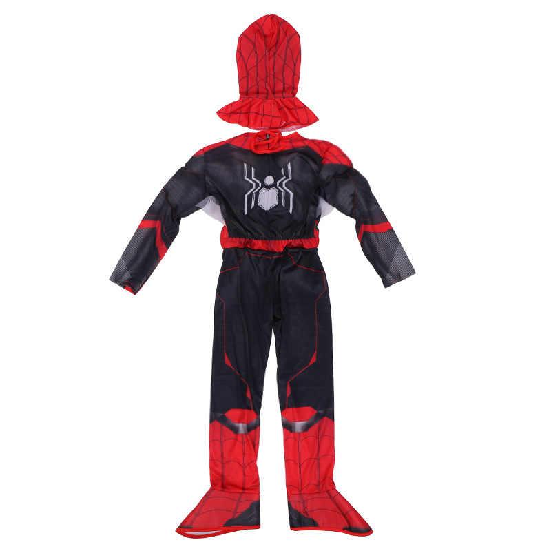 Nhện mới Phù Hợp Với Trẻ Em Marvel Spiderman Xa Gia Đình Siêu Nhân Cơ Trẻ Em Halloween Trick-OR-Trị Trang Phục Hóa Trang