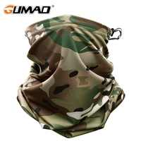Multicam camuflaje táctico cuello gaater tubo cara escudo sol ejército militar ciclismo caza senderismo Camping bufanda Bandana máscara