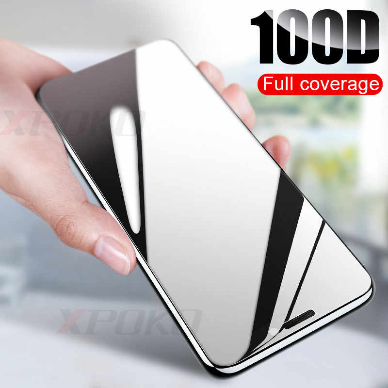 100D Curved Edge Protective Glass on the For iPhone 7 8 6 6s Plus Tempered Screen Protector For iPhone 11 Pro X XR XS Max Glass