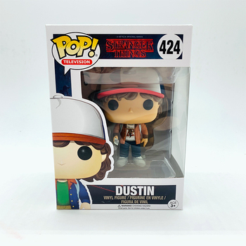 Funko Pop  Stranger Things Season 1 DUSTIN #424 Vinyl Action Figure Dolls Toys 2
