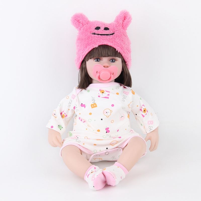 JULY'S SONG 42CM Baby Reborn Dolls Sleeping Accompany Doll Birthday Gift For Kids Hot Sale Cute Baby Kids