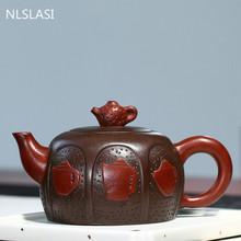 Duża pojemność 360ml do herbaty Yixing pot purpurowa glina czajniki surowa ruda purpurowe błoto piękno czajnik dostosowane autentyczne krawat Guanyin Puer tanie tanio NLSLASI CN (pochodzenie) 301-400 ml Z fioletowej gliny