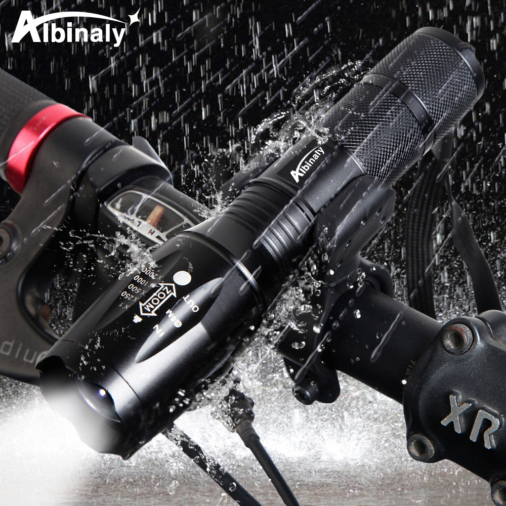 Waterproof  Bicycle Light Super Bright LED Bike Light 5 Lighting Modes Support Zoom Powered By 18650 Batter Suitable For Cycling