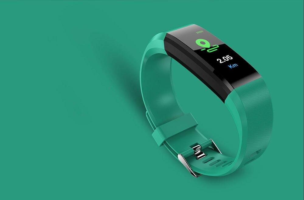 H1209edbfef3d49669cd3d8df247660b1e Smart Bracelet Watch for Men Women 115 Plus Smart Wristband Fitness Tracker Pressure Sport Watch Heart Rate Monitor Band A2