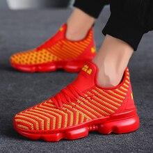 Роскошная брендовая мужская обувь для бега, сетчатая дышащая мужская обувь, спортивная прогулочная обувь, мужская спортивная обувь на шнуровке, большие размеры