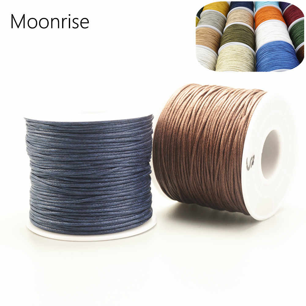 15/%OFF 1mm Waxed Polished Cotton Cord Braided String friendship bracelet Macrame Necklace High quality Beading Cord 30feet Pick Colors