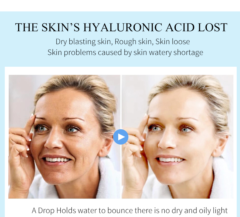 PUTIMI Hyaluronic Acid Face Serum Moisturizing Anti-Wrinkle Anti Aging Collagen Shrink Pores Face Essence Whitening Face Cream
