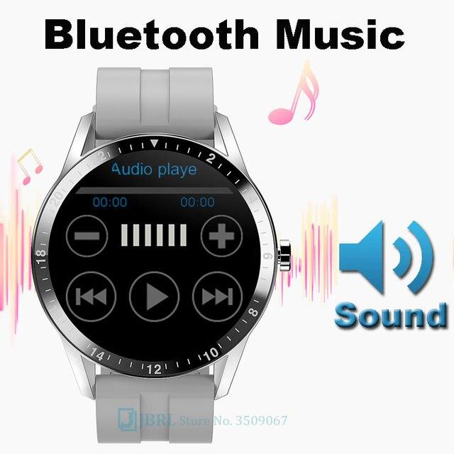Połączenie Bluetooth inteligentny zegarek mężczyźni dla android ios inteligentny zegarek elektronika inteligentny zegar opaska monitorująca aktywność fizyczną nowy top w pełni dotykowy inteligentny zegarek