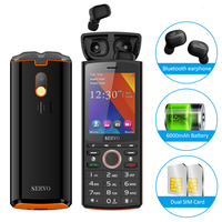 6000mAh Power Bank Bluetooth Music headphone mobile phone 2.8 gsm push button cheap Dual sim unlock Russian keyboard cellphone