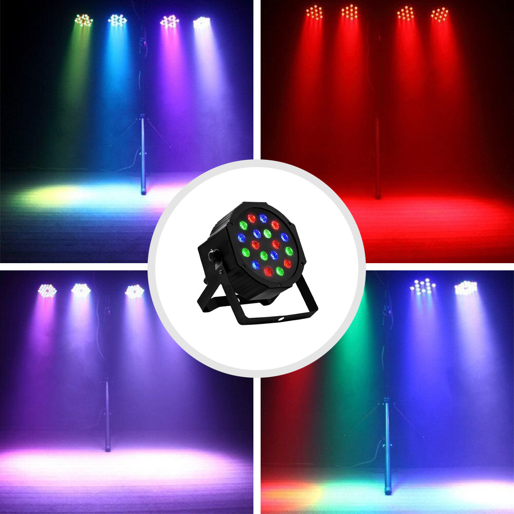 Disco Light Color DMX Voice Control Self-Propelled Laser Staining Stage Lights KTV Christmas 18LED (5)