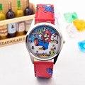 Super Mario Bros игрушки из мультфильмов Mario Odyssey Куклы Дети Детские часы на запястье для мальчиков и девочек студентов кварцевые наручные часы Фиг...