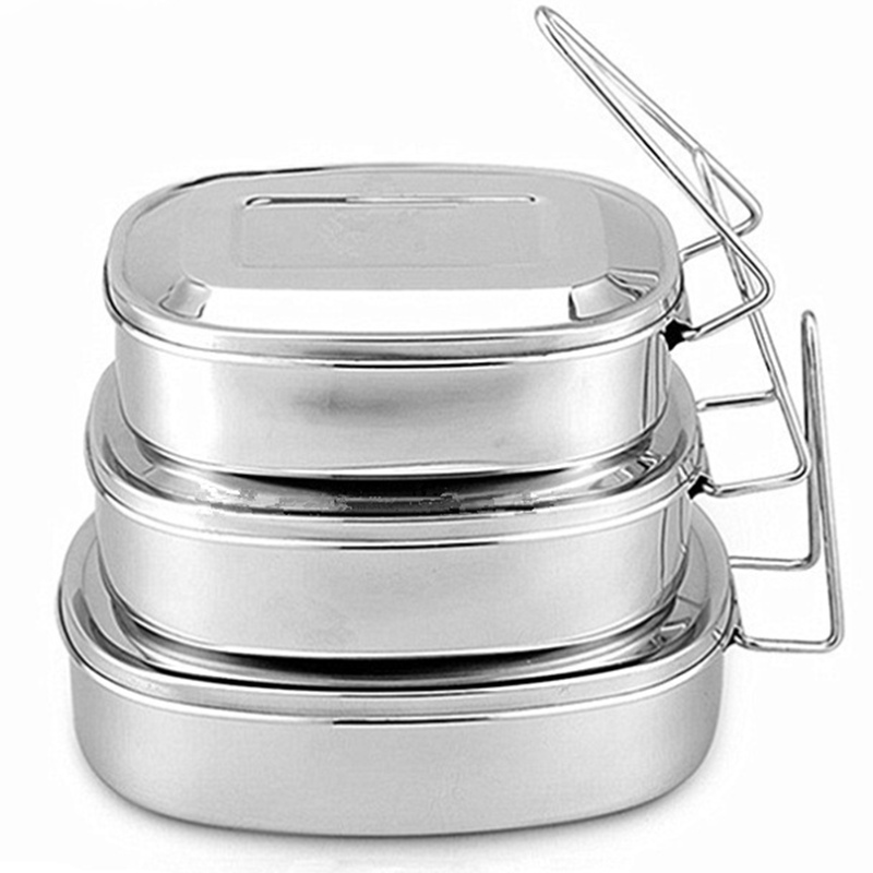 Stainless Steel 1-Tier Eco Lunch Box Metal Bento Box