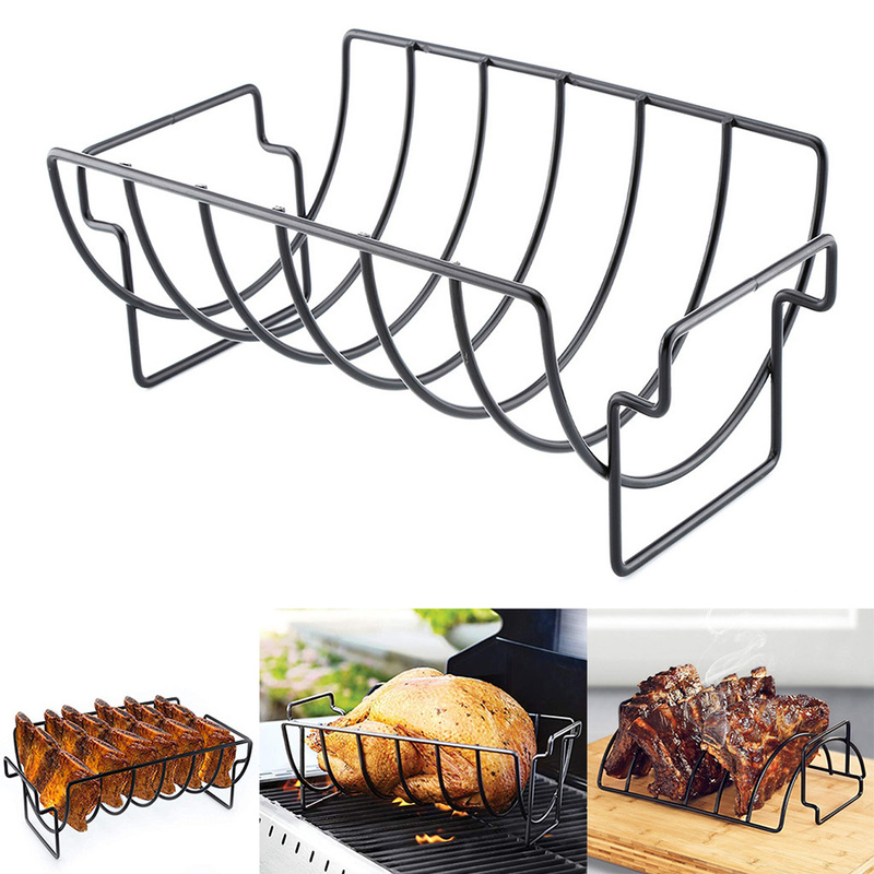 Outdoor Barbeque Camping Grilling Stand Stainless Steel BBQ Stove Holder Rack