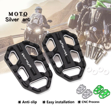 Footrest Kawasaki Pegs Motorcycle Wide-Foot VERSYS1000 CNC Aluminum for 15