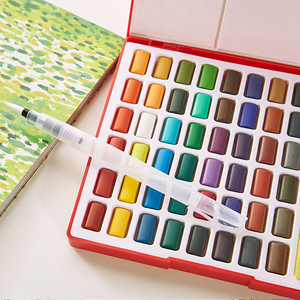 Image 5 - Faber Castell 24/36/48Color Watercolor Paint Set Professional Box With Paint Brush Portable Solid Pigment Painting Art Supplies