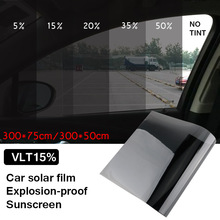 0.5X1.5m Dark Black Car Window Tint Film Roll Glass Cars Auto Solar Protection Summer For Car Side Window Home Glass