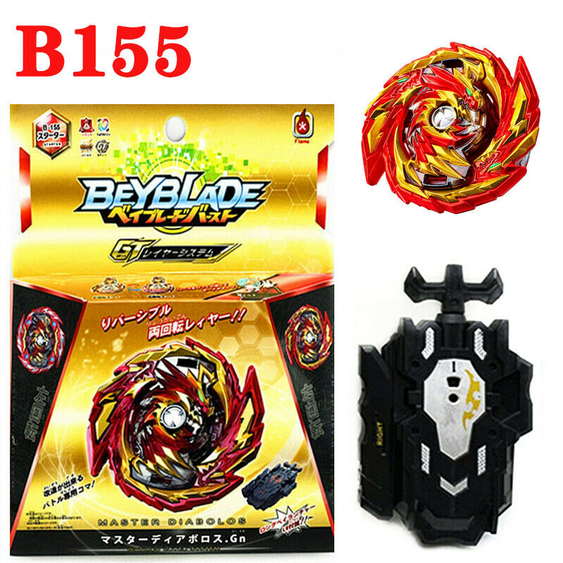 Beyblade Fire Burst Starter Master Diabolos Gn With L/R Launcher Kids Toys