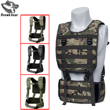 Military Army Combat Waist Belt Army Chest Rig Tactical Vest Molle Military for Airsoft Paintball Equipment Outdoor Hunting army tactical carrier armor chest rig vest harness rifle pistol magazine pouch crx hunting equipment accessories 5 56