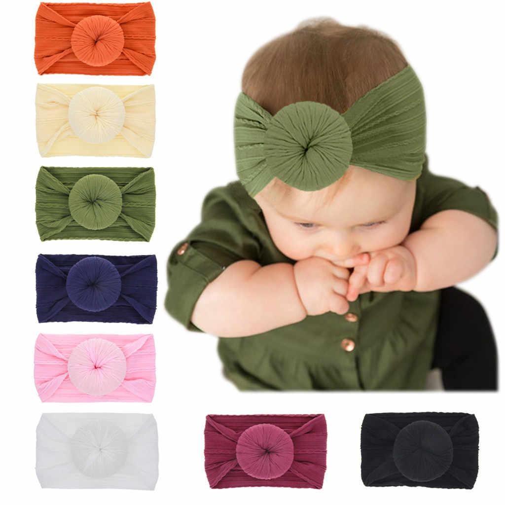 6 kleuren Baby Hoofdband Pasgeboren Baby Meisjes Boog Haarband Hoofdbanden Tulband Geknoopt Baby Girl Haar Accessoires Hoofddeksels Dropshipping