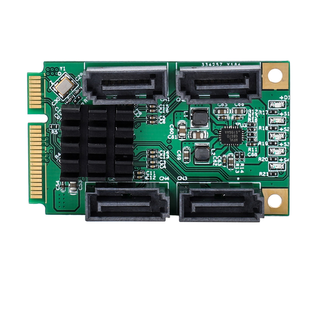 XT-XINTE Mini PCIE 4 Ports SATA III pci-express carte contrôleur SATA 3.0 Mini PCI-E disque dur SSD adaptateur carte d'extension - 2
