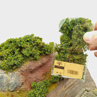 DIY Simulation Baum Bush Kampf Fahrzeuge Camouflage Abdeckung Sand Tabelle Miniatur Vegetation Modell-Licht Grün