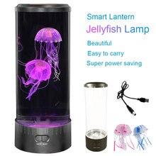 LED برج قنديل البحر مصباح ضوء الليل USB المزاج مكتب أباجورة حوض السمك الخيال المنومة اللون ديكور المنزل