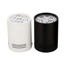 3W 5W 7W 12W צמודי Downlights LED ספוט תקרת אורות מנורות לבן שחור גוף עבור סלון חדר אמבטיה מטבח אורות