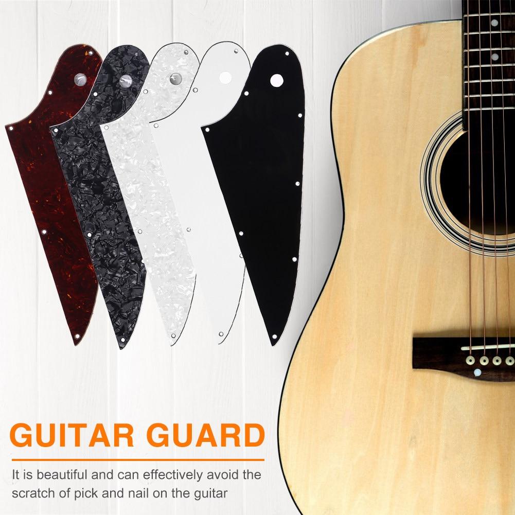 3 Ply White Custom Guitar Pickguard For Standard Firebird Style Guitar,