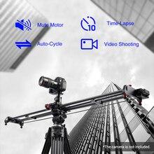 GVM – piste coulissante de caméra motorisée, 120cm, stabilisateur de Dolly panoramique pour caméscope de Smartphones + tête de trépied