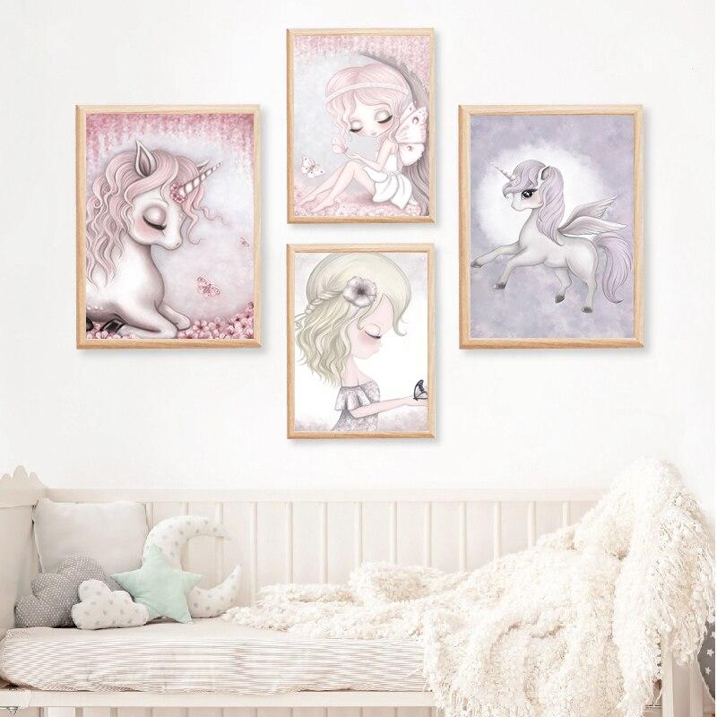 Ev Ve Bahce Ten Resim Ve Hat De Unicorn Pembe Kiz Barbie Nordic