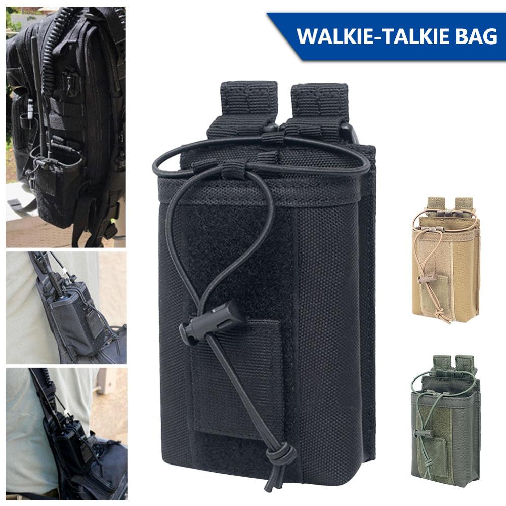 1000D Nylon Outdoor Pouch Tactical Sports Pendant Military Molle Radio Walkie Talkie Holder Bag Magazine Mag Pouch Pocket