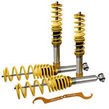 Mola de bobina de coilover de choques de suspensão para bmw e39 518i 520i 523i 528i 1995 2004 altura ajustável