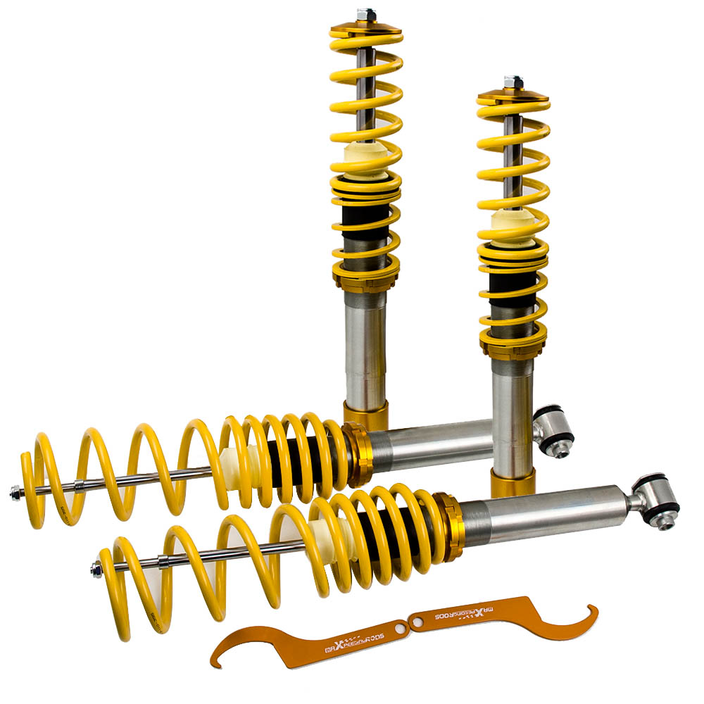 Suspension Shocks Coilover Coil Spring for BMW E39 518i 520i 523i 528i 1995 2004 Adjustable Height-in Shock Absorber& Struts from Automobiles & Motorcycles