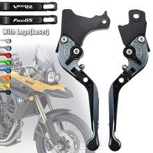 Para bmw f800gs f800 gs 2008 2014 2015 2016 logotipo da motocicleta ajustável folding extensível embreagem do freio alavancas