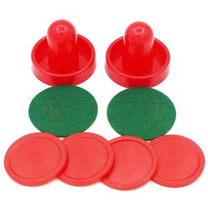 Hockey-Equipment Pushers Table-Game Game-Tables Puck Air-Hockey Red 8pcs Goalies-Accessory