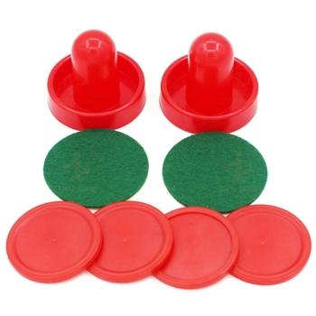8 sztuk czerwony sprzęt hokejowy stoły stół gry plastikowe hokejowe Pushers Puck gry stoły Goalies akcesoria tanie i dobre opinie