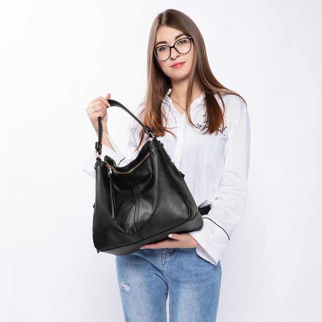 REALER handbags women shoulder crossbody bag female casual large totes high quality artificial leather ladies hobo messenger bag 1