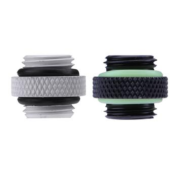 G1/4 Dual External Thread Hose Connector for PC Water Cooling System PC Computer Water Cooling Accessories image