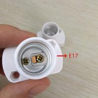 Kuulee Hohe Qualität E17 Weißes Quadrat Lampe Halter für E17 Led lampen Aging Test Licht Basis-in Lampenfassung Umwandler aus Licht & Beleuchtung bei