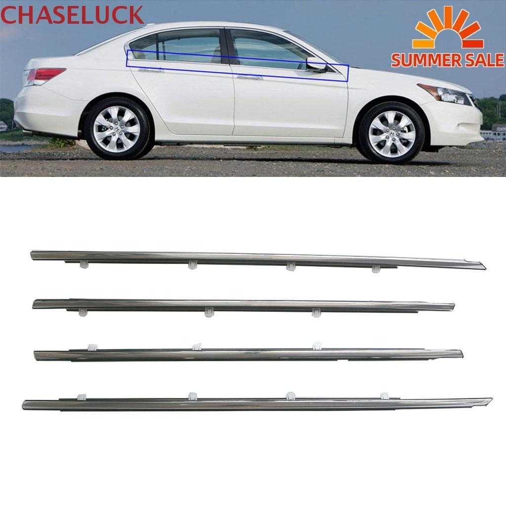 Chrome Outside Window Door Belt Weatherstrip Weather Strip Outer Seal Trim For Honda Accord 2008 2009 2010 2011 2012 Accessories Aliexpress