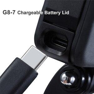 Image 4 - Заряжаемая крышка аккумуляторного отсека, крышка аккумуляторного отсека для камеры GoPro Hero Black 8 S port s, съемный адаптер для зарядного порта Type C